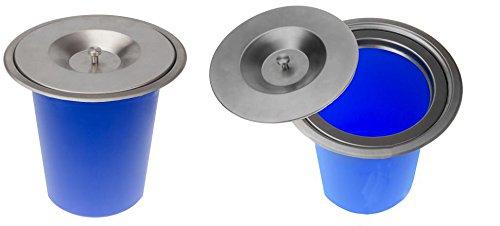 Onpira Edelstahl Einbau Abfalleimer Küchen Arbeitsplatte Mülleimer Abfallsammler (6,5L)