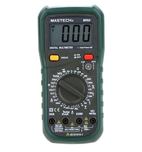 MASTECH MY64Digital Multimeter DMM Frequenz Kapazität Temperatur Meter Tester w/hFE-Test -