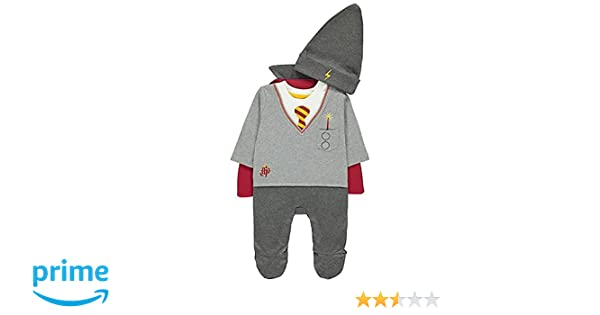 Officially Licensed Harry Potter Baby All-in-One fancy dress Halloween  Costume with Cape & Hat  For ages 9-12 Months, Made under Warner Bros  license