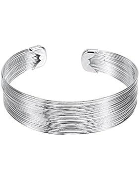 Armband Damen Fashionvictime - Versilbert-Rhodium Manschettenarmband Modeschmuck