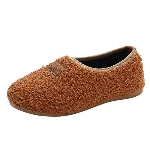 d87f2301195a1 ❤️Amlaiworld Bébés Filles Garçons Hiver Chaussures Chaudes Peluches  Chausson Bottes de Neige pour Enfant 1