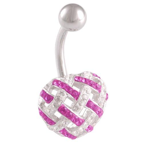 bodyjewelry New Ferido BL-CR-303-C-Fuchsia-Weiß
