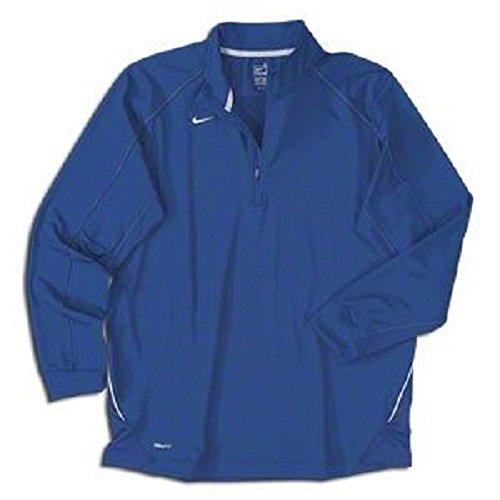 Nike Dri-fit con mezza zip manica lunga training top Royal Blue