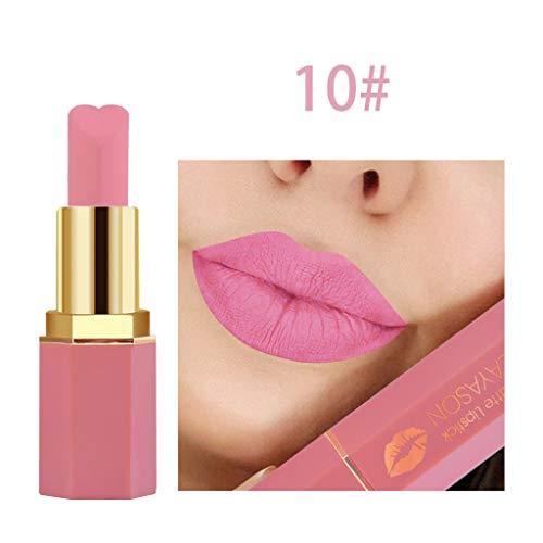 te Und KüRbis Farbe Bohnenpaste Lip Solid Gloss Lipstick Long Last ()
