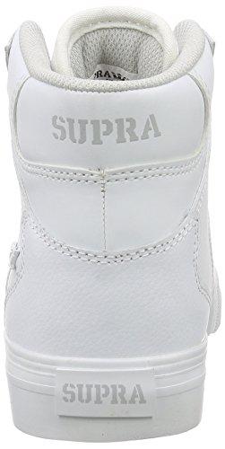 Supra Kids Vaider, Sneakers Hautes mixte enfant Blanc (White White)