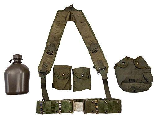 Militär Outdoor Bekleidung bisher erschienenen US GI OD Grün Kantine Set mit Strapse & Kompass Beutel -