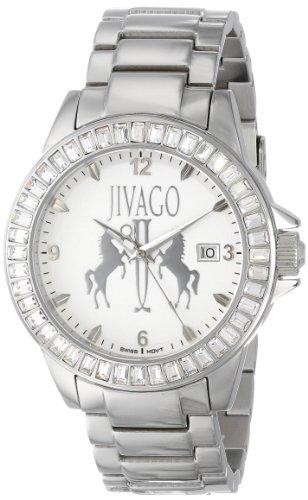 JIVAGO WOMEN'S 42MM STEEL BRACELET & CASE SWISS QUARTZ WHITE DIAL WATCH JV4215