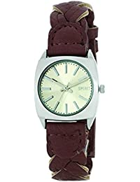 Spirit Women's Quartz Watch with Silver Dial Analogue Display and Brown PU Strap ASPL48