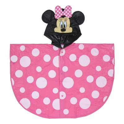 Minnie Mouse - Poncho Impermeable Capucha Minnie Mouse