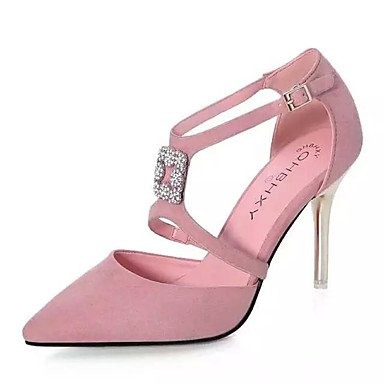 Moda Donna Sandali Sexy donna tacchi Primavera / Estate / Autunno tacchi / Punta partito in pelle e la sera abito / Stiletto Heel Vini spumanti Pink