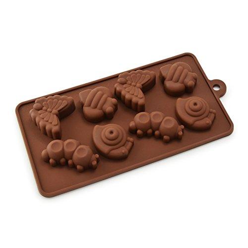 """Silikon Backform Motive \""""Geburtstag\"""" / Silikonform / Fondantform / Kuchen-Form / Keks- und Plätzenform / Eiswürfelform / Zuckerguss-Form / Schokoladen-Form / Teigform / Seife und Gelee / ideales Back-Zubehör für Dekorationen für Konditorei u.V.m. - Marke Ganzoo (Tiere 1)"""