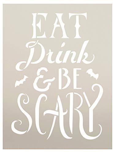 Hand Ziehen, Essen, Trinken, und Scary Halloween werden Schablone-30,5x 22,9cm-stcl1463_ 3-von studior12 (Halloween Scary Schablonen)
