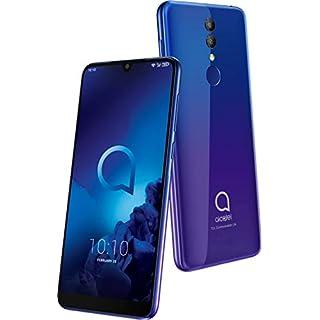 Alcatel 3 5053K Smartphone (14, 98 cm (5, 9 Zoll) IPS Display, Dual-Sim, 64 GB Speicher, 4 GB RAM, Android 9.0) lila, blau
