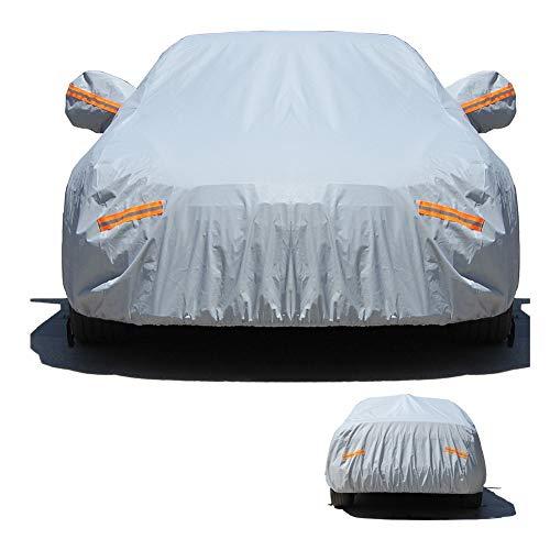 ALGWXQ Copertura Auto Protezione della Neve Antigelo A Prova di Polvere Resistente Ai Graffi Sicurezza Protezione SUV, 2 Colori, 20 Taglie (Color : Gray, Size : 480X180X150CM)
