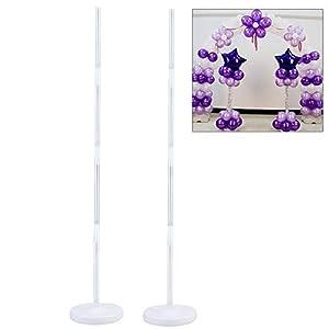 publicidad para eventos: DDG EDMMS 1,2 m de Columna de PVC Globo Soporte Base Globo de Rod Conjunto Sopor...