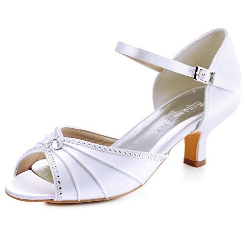 ElegantPark HP1623 Peep Toes abrochan Zapatos Novia