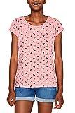 edc by ESPRIT Damen 049CC1K033 T-Shirt, Rosa (Pink 670), Large (Herstellergröße: L)