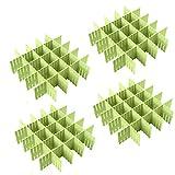 Croing (32 pcs) DIY Organisateur de Tiroir/Grille Diviseur de tiroir/Rangement de tiroir/Separateur de Tiroir pour sous-Vêtements Chaussettes Ceinture Fournitures de Bureau
