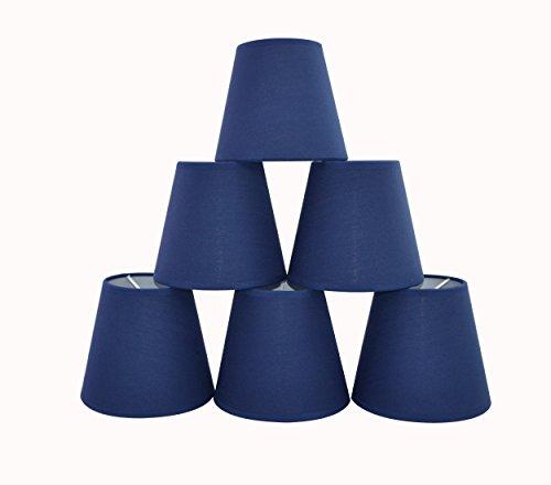 Doooitlight Set mit 6Clip-Lampenschirmen für Lampen, Leuchten, Kronleuchter rauten - blau (Blau Kronleuchter)