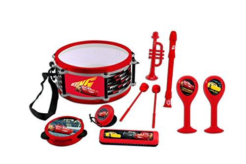 Lexibook Disney Pixar Cars 3 Lightning McQueen Musikspielzeug, Musik-Set, 7 Musikinstrumenten (Trommel, Maracas, Castanet, Harmonika, Blockflöte, Trompete, Tamburin), Spielzeug, Rot/Schwarz, K360DC