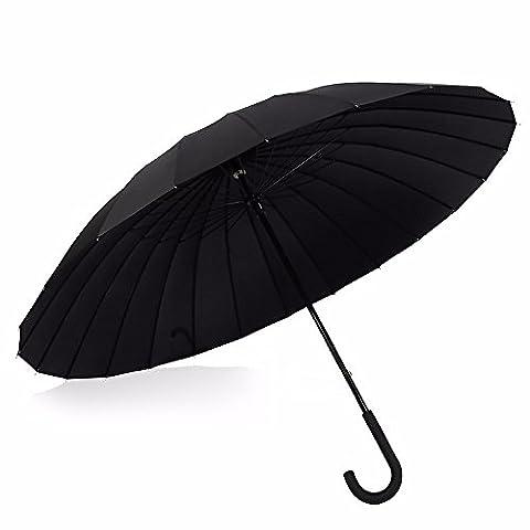 Parapluie–Long coupe-vent et tempête–Parapluie pour homme et femme 24baleines Style Classique avec poignée courbé–Xhopos Home