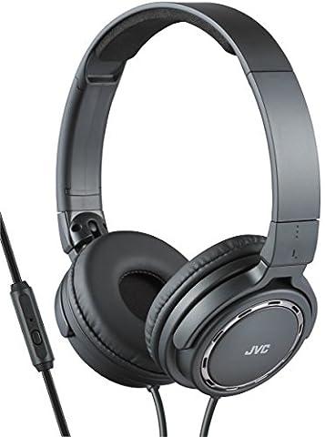 JVC hA-e leichtkopfhörer sR525–on-ear avec télécommande et microphone noir