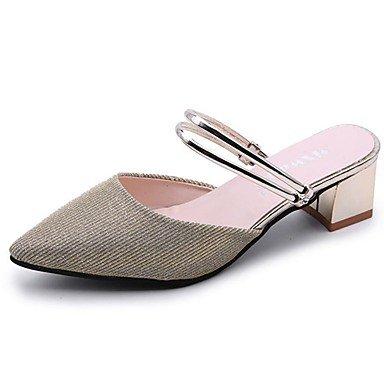RTRY Donna Pantofole &Amp; Flip-Flops Comfort Estivo Pu Casual Chunky Heelblack Camminata Bianca US7.5 / EU38 / UK5.5 / CN38