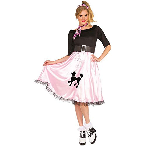 Bristol Novelty Damen Sock Hop Sally Kostüm (M) (Pink)
