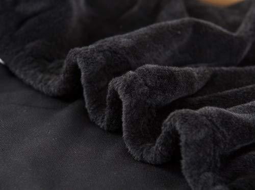 Housse de canapé épaisse et élastique en velours uni -Pour canapé 1, 2, 3 ou 4 places, noir, 2 Seater:145-185cm
