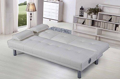 Divano Letto Bianco Ecopelle : Sleep design manhattan divano letto in ecopelle 3 posti moderno