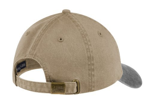 Port & Company® -Two-Tone Pigment-Dyed Cap. CP83 Khaki/Hunter OSFA (Cp83-port)