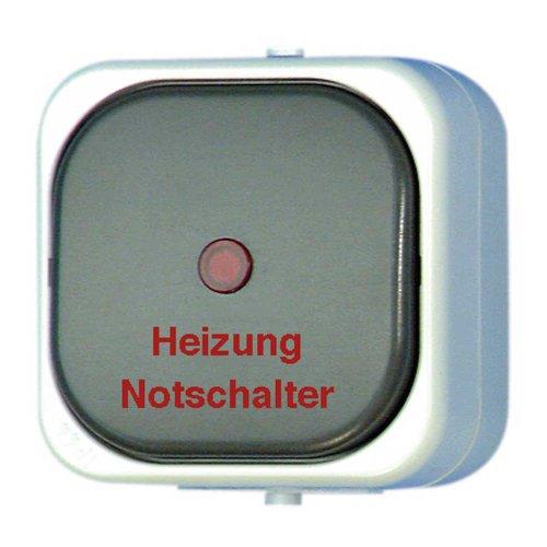 REV Ritter 0511665777 AquaTop AP Heizungs-Schalter, grau -