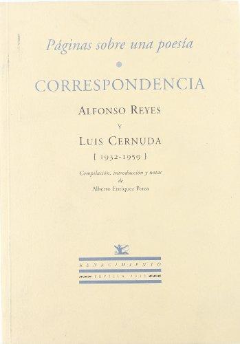 Paginas Sobre Una Poesia. Corre (Otros títulos) por Alfonso Reyes