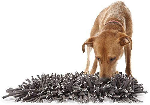 "Zicosy Snuffle Mat for Dogs- Feeding Mat for Dogs (12"" x 18"") - Grey Feeding Mat - Encourages Natural Foraging Skills - Easy to Fill - Durable and Machine Washable - Perfect for Any Breed"