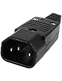 Tradico® Black Iec-320 C14 Male Plug Ac Power Inlet Socket Connector 250V 10A D6H2