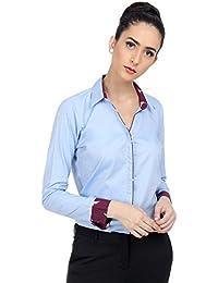 Ombre Lane Women's Plain Slim Fit Shirt