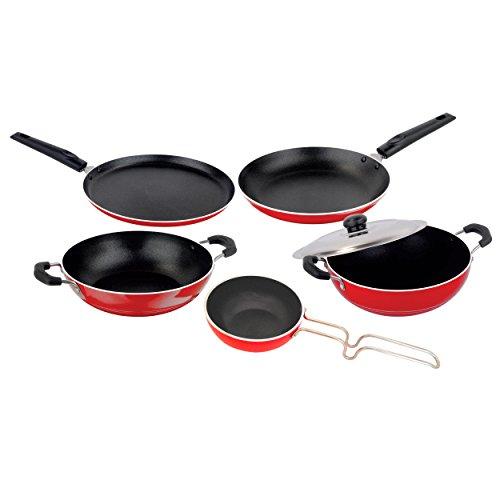 Nirlon Special Aluminum Non-stick Kitchen Vessel Cooking Pan and Pot...