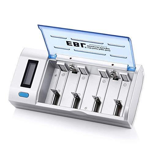 EBL 906 Universal Schnellladegerät LCD Akkuladegerät und Entladegerät für AA, AAA, C, D, 9V, NI-MH, NI-CD wiederaufladbare Batterien