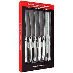 Laguiole Production 20100001 Coffret 6 Couteaux Steak Laguiole de table Manche Métal Inox