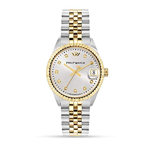 Philip Watch Women's Watch, Caribe Collection, Stainless Steel, Yellow Gold PVD and Natural Diamonds Watch - R8253597526
