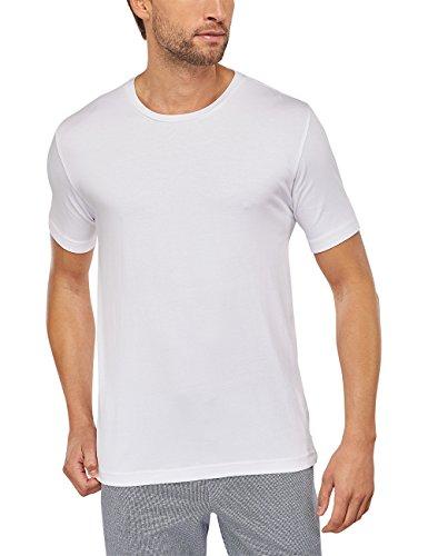 Anspruchsvolle Tagwäsche (Schiesser Herren Schlafanzugoberteil Mix & Relax Shirt Kurzarm, Gr. Large (Herstellergröße: 052), Weiß (weiss 100))