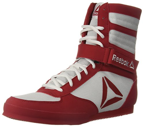 Reebok Men's Boot Boxing Shoe, White/Excellent red, 11.5 M US