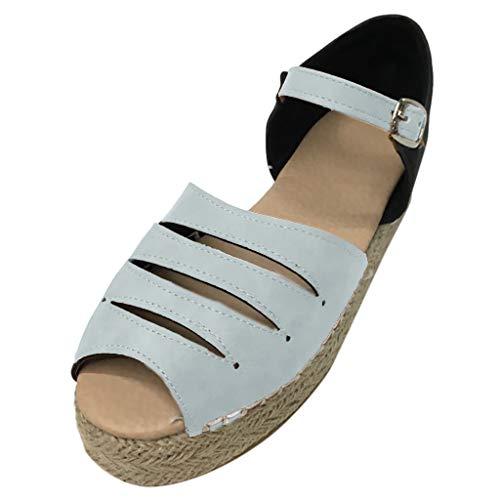 Markthym Womens Fashion Hollow Open Toe Schuhe dicken unteren Riemen Schnalle römischen Sandalen Fashion Damen flachen Boden Hohle große römische Sandalen Hi Heel Open-toe Pump