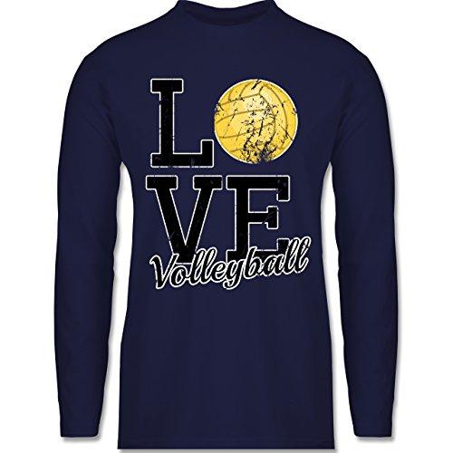 Shirtracer Volleyball - Love Volleyball - Herren Langarmshirt Navy Blau