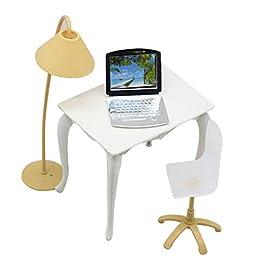 Originaltree scrivania lampada di Chair mobili accessori per casa delle bambole Barbie Kids Girl Toy