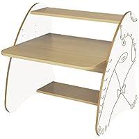 Preisvergleich für Mobeduc 600912hr23–PC-Tisch Kinder/Primär, Holz, Buche und Weiß, 80x 75x 80cm