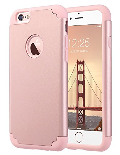 Ulak cover iphone 6s, cover per iphone 6/6s custodia stampato design pc+ silicone ibrido impatto grande difensore combo duro morbido case per apple iphone 6/6s 4.7