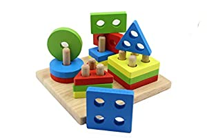 You? Educational Wooden Shape Sorter Geometric Puzzle Toy For Kids by You Xi
