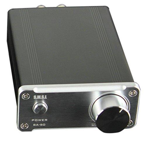 SMSL SA-50 D-AMP TDA7492 Hi-Fi Stereo Verstärker / Amplifier (Endstufe + Power Adapter, 2x50Watt) silber