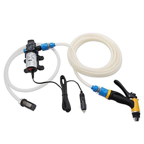 Preisvergleich Produktbild Labellevie Tragbare Car Wash Set 12V 80W Auto Waschmaschine Elektrische Leistungsstarke Wasserpumpe Hochdruck Waschpistole mit Auto-Ladegerät